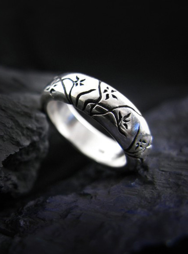 Orchid Bloom silver ring