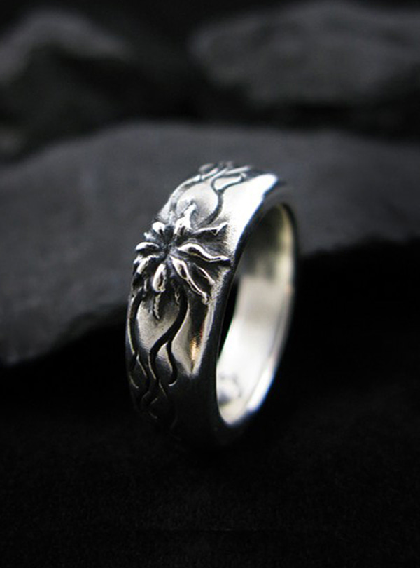 Wild Bloom silver ring