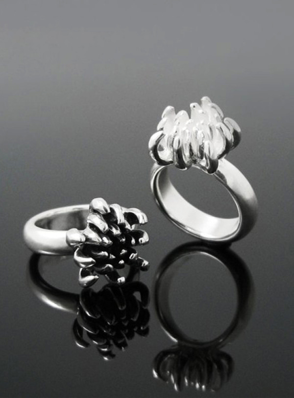 Scent of Mum silver ring